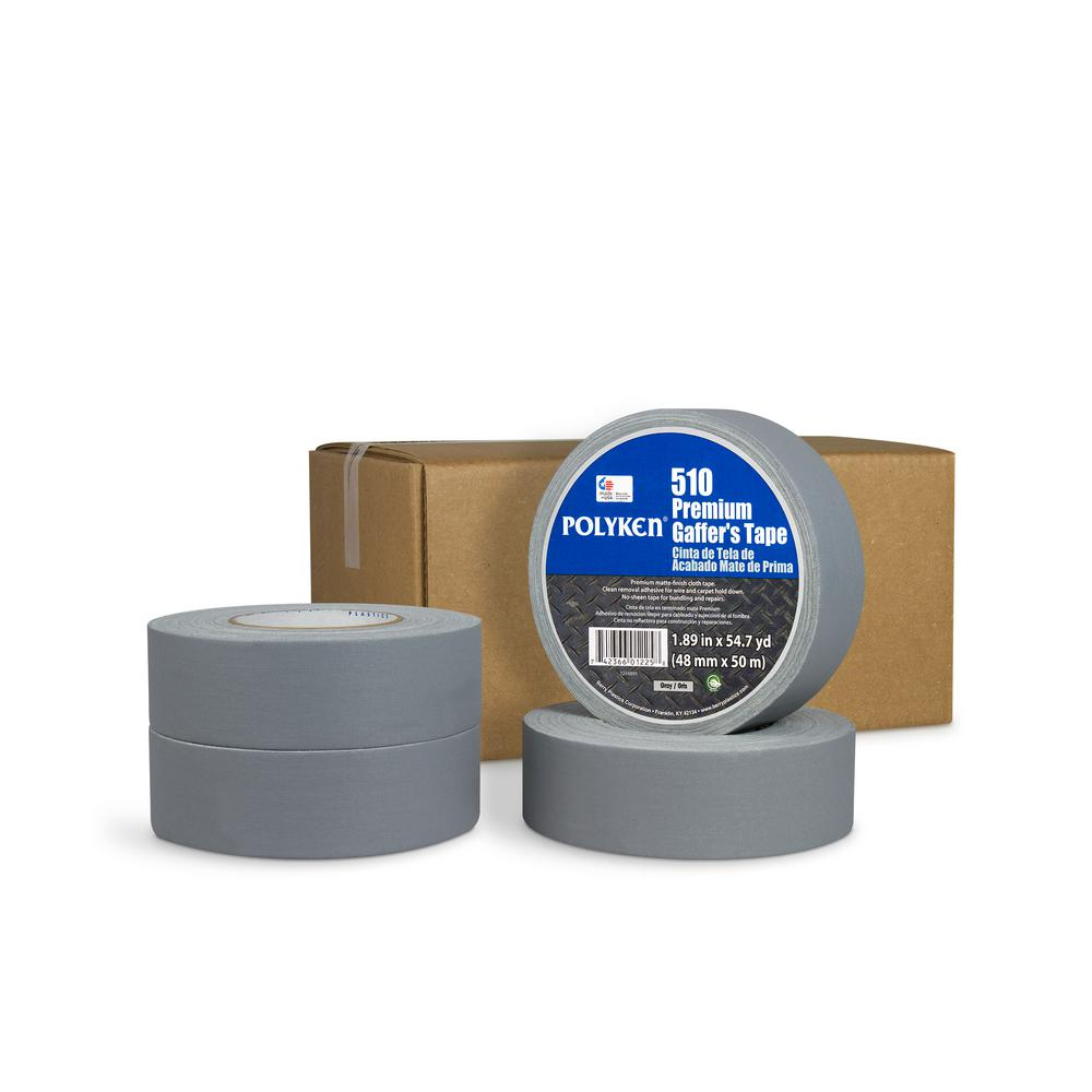 1.89 in. x 54.7 yd. 510 Professional-Grade Gaffer Tape in Silver