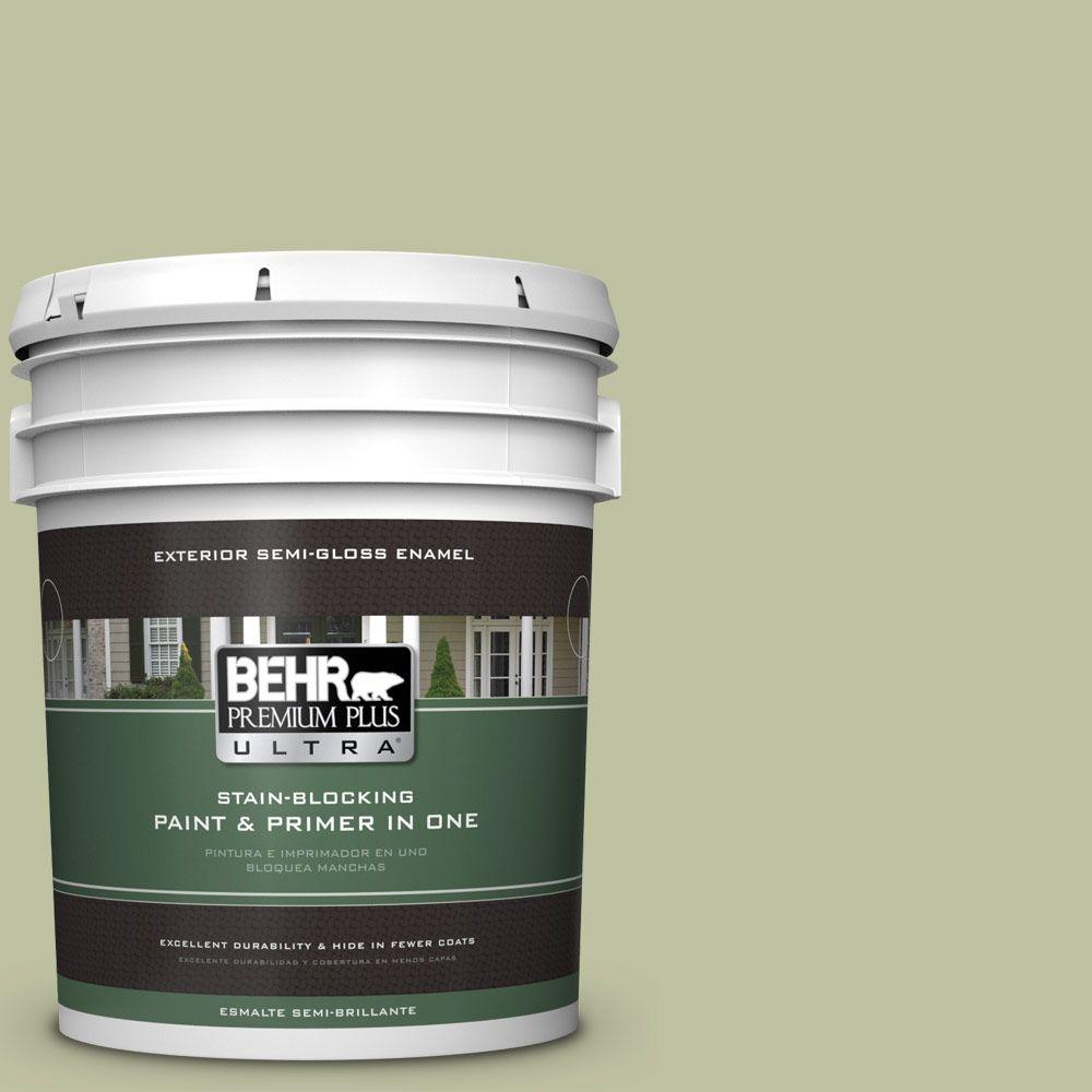 BEHR Premium Plus Ultra 5-gal. #S370-3 Sage Brush Semi-Gloss Enamel Exterior Paint