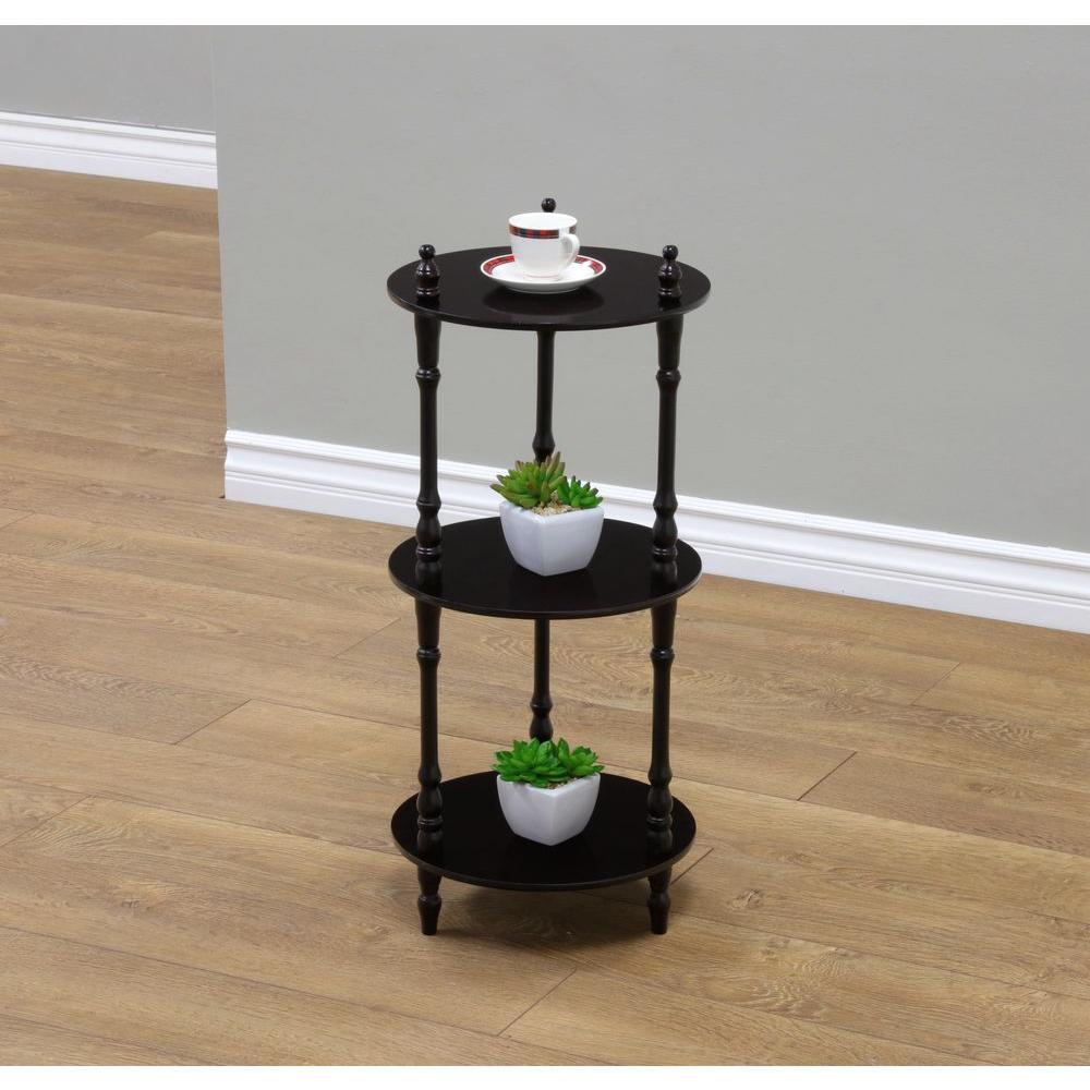 Frenchi Home Furnishing 3-Tier Cherry Wood Decorative Etagere Shelf