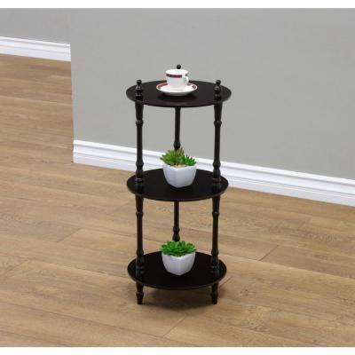 3-Tier Cherry Wood Decorative Etagere Shelf