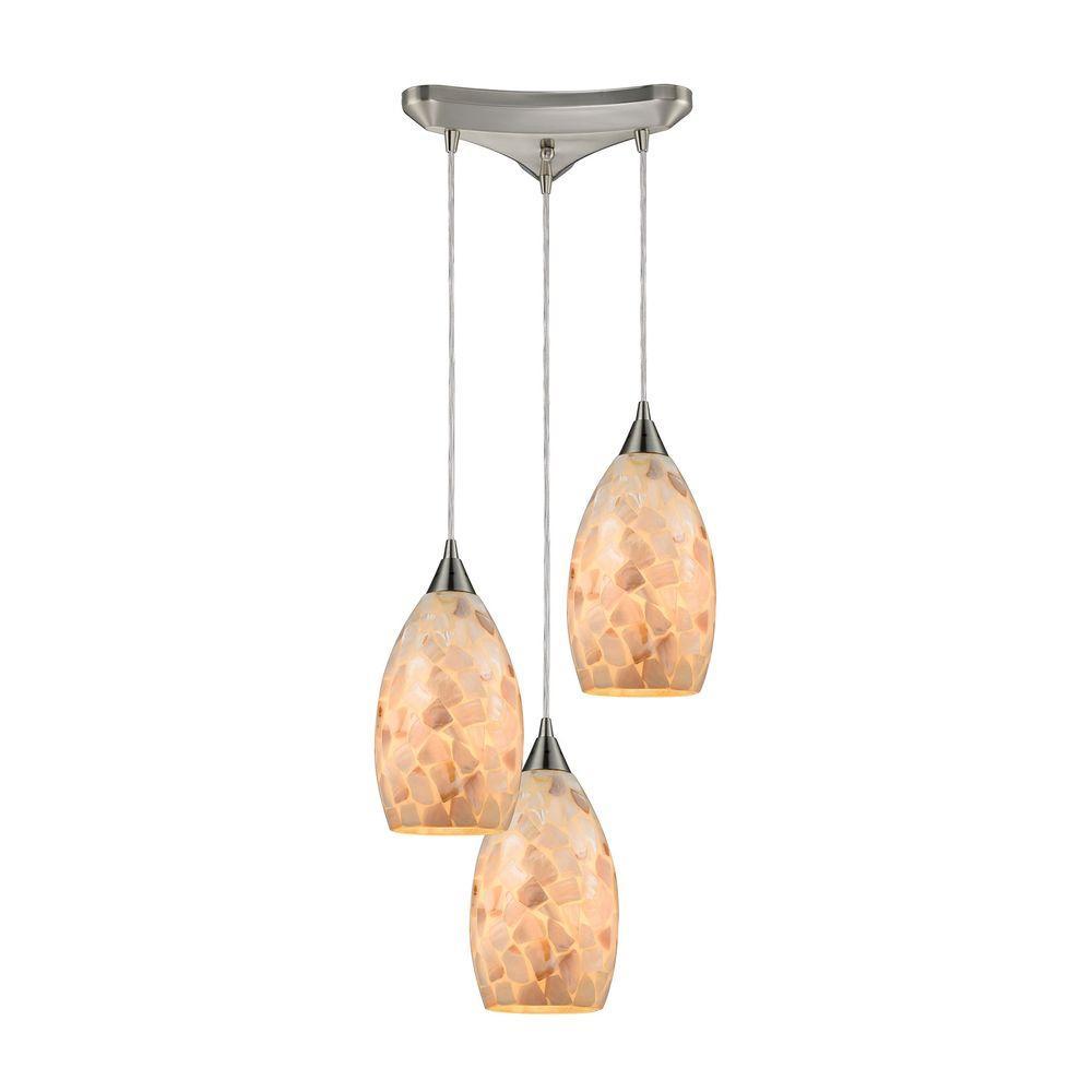 Titan lighting capri 3 light satin nickel and capiz shell pendant tn titan lighting capri 3 light satin nickel and capiz shell pendant aloadofball Gallery