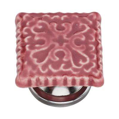 Intricate 1.54 in. Cherry Tile Cabinet Knob