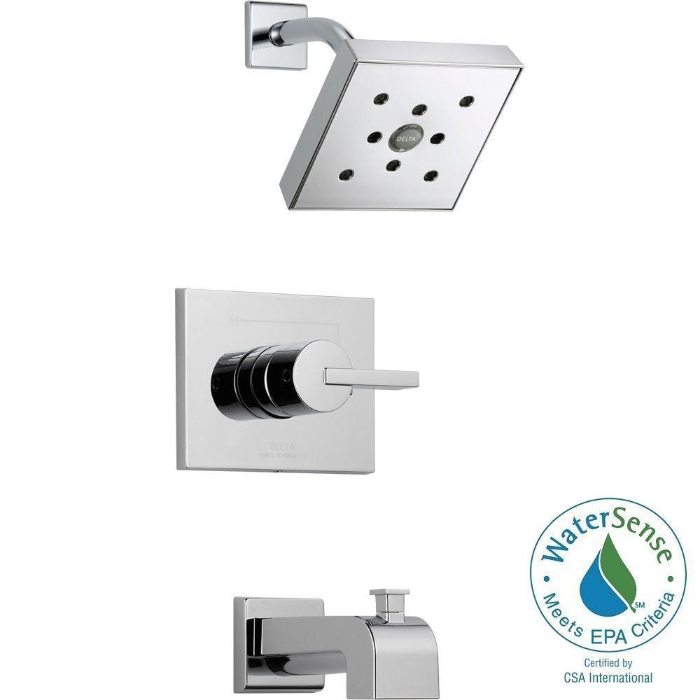 Vero 1-Handle Wall Mount Tub and Shower Faucet Trim Kit in