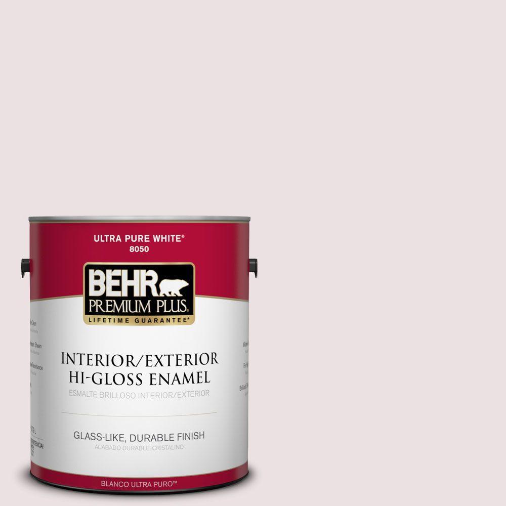 1-gal. #130E-1 Glaze White Hi-Gloss Enamel Interior/Exterior Paint