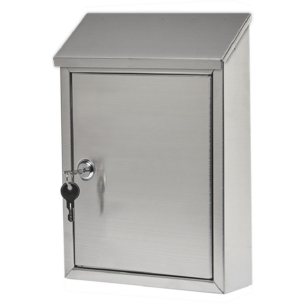 Gibraltar Mailboxes Ashley Stainless Steel Vertical Locking Wall-Mount Mailbox