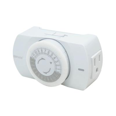 24 Hour Heavy Duty Indoor Plug-In Grounded Outlet Mechanical Timer