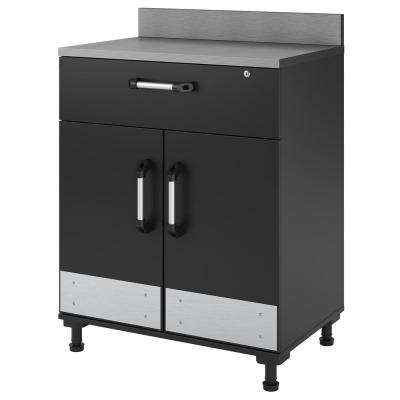 Boss 40 in. H X 29 in. W x 19 in .D -2 Door and 1 Drawer Base Cabinet in Charcoal Stipple