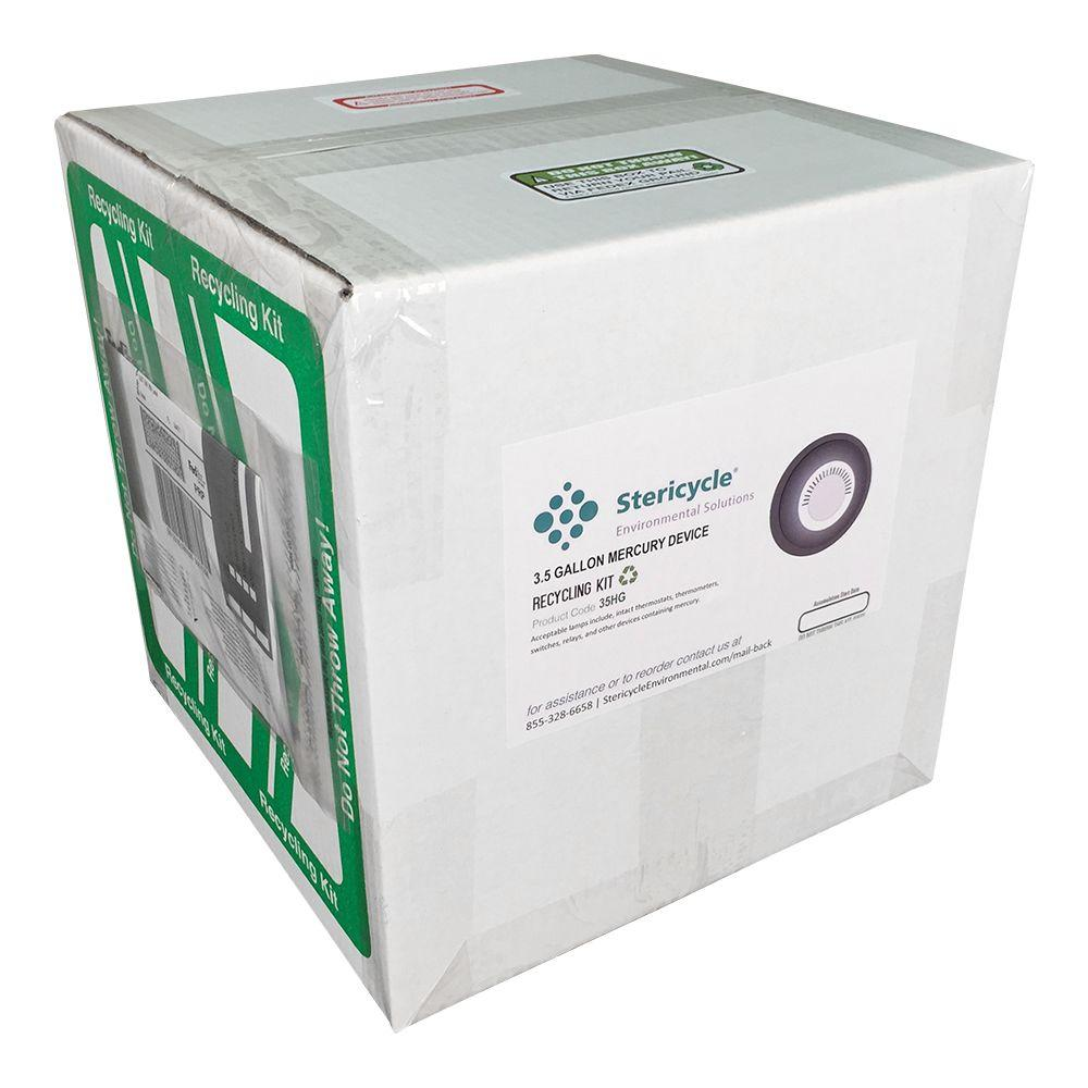 3.5 Gallon Thermostat & Mercury Device Pail Prepaid Recycling Kit