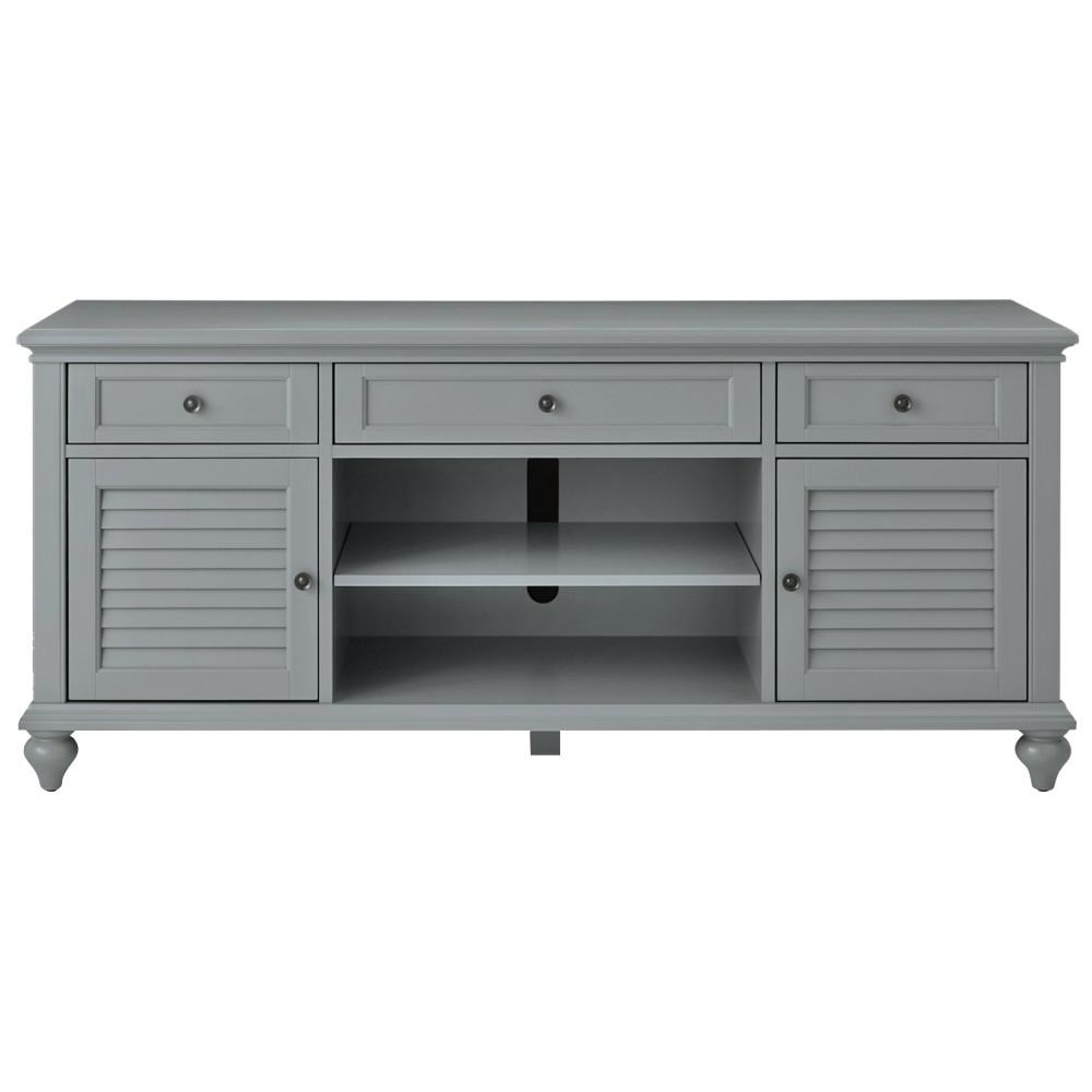 home decorators collection hamilton 26 in grey tv stand - Distressed White Tv Stands