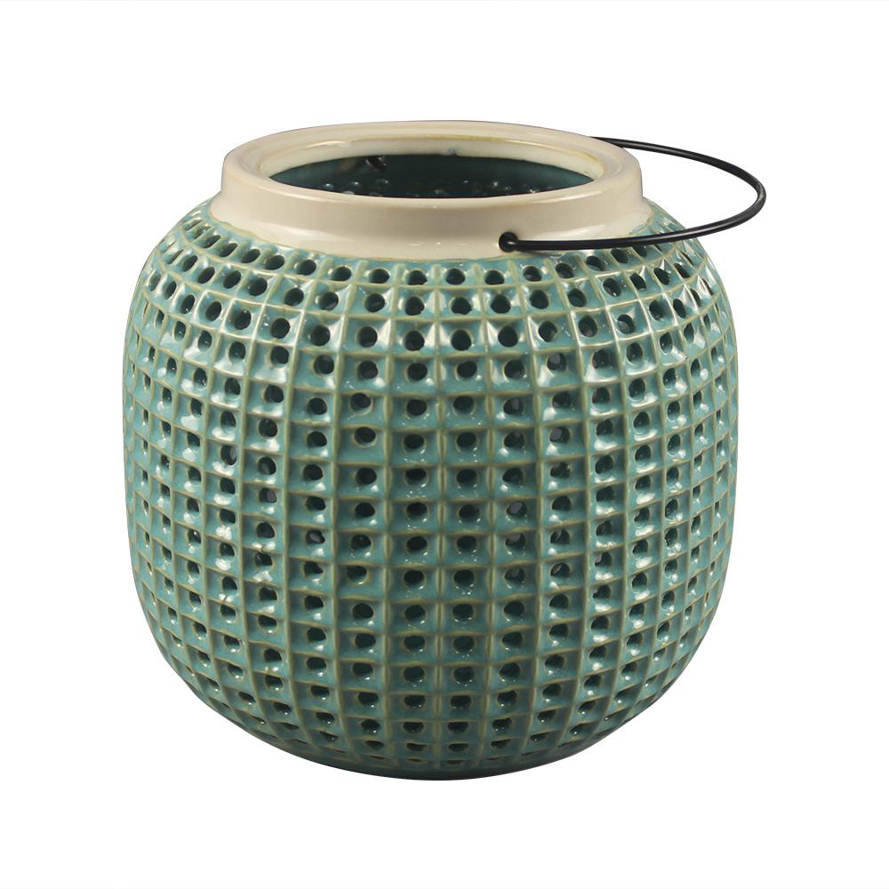 Southern Patio Urchin Green Tabletop Lantern
