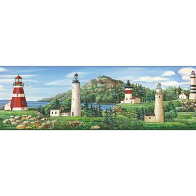 Gilead Lake Lighthouse Portrait Wallpaper Border