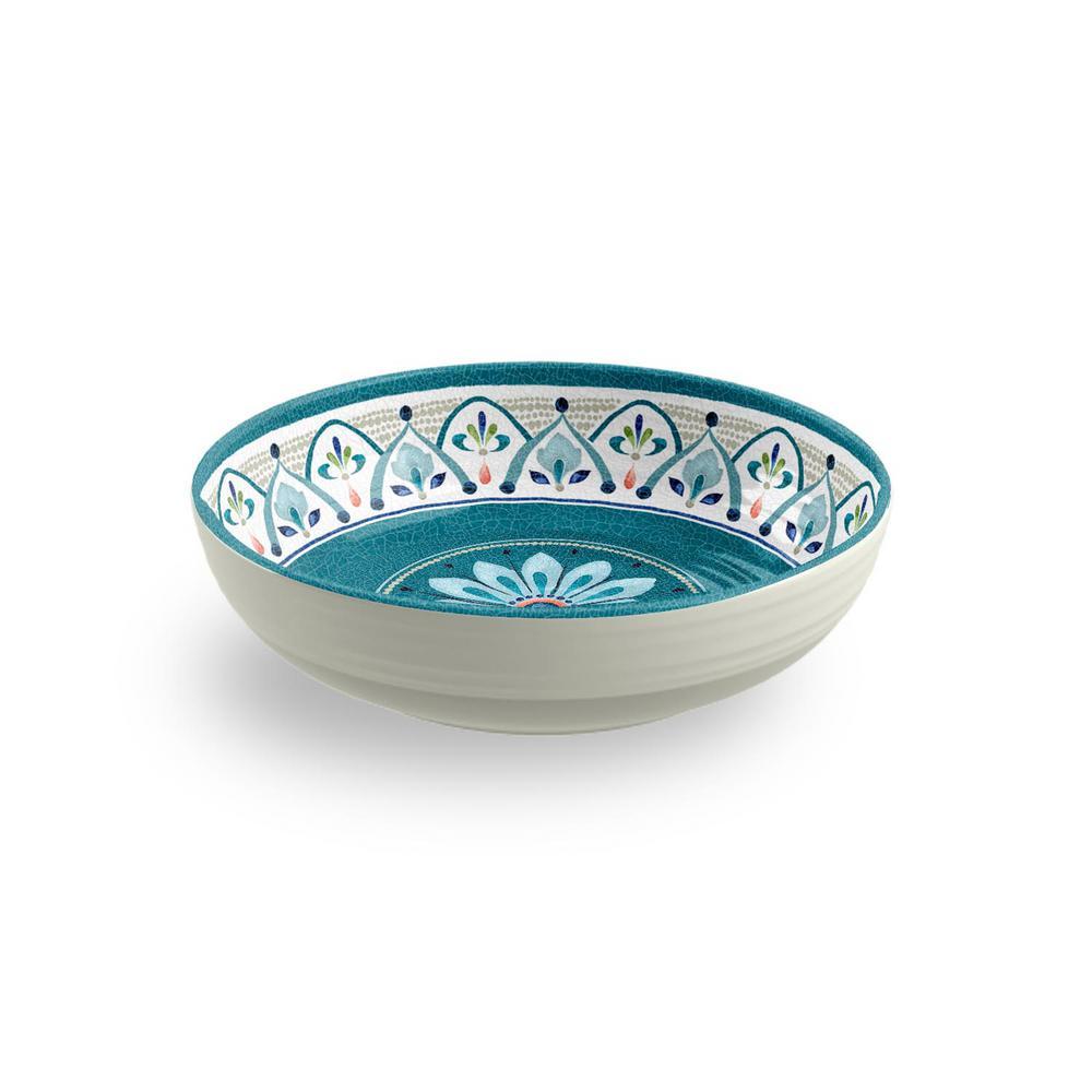 Moroccan Medallion Blue Low Bowl (Set of 6)