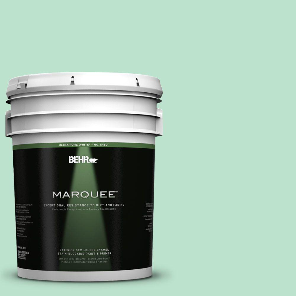 BEHR MARQUEE 5-gal. #P410-2 Spearmints Semi-Gloss Enamel Exterior Paint