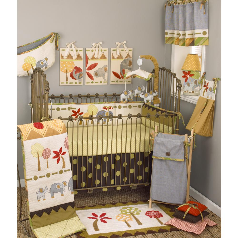 Elephant Brigade Jungle 4-Piece Crib Bedding Set