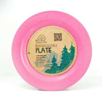 Bamboo 1-Piece Pink Side Plate (6-pack)