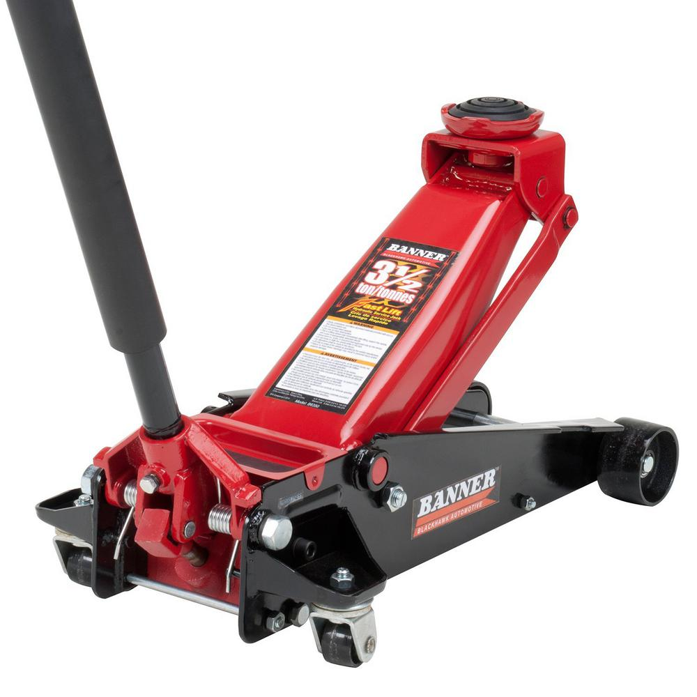 Banner 3 5 Ton Fast Lift Heavy Duty Garage Floor Jack With Swivel