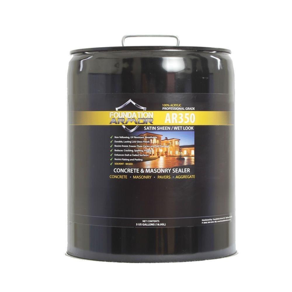 Foundation Armor Ultra Low VOC Gal Wet Look Satin Sheen Acrylic - Behr wet look sealer high gloss