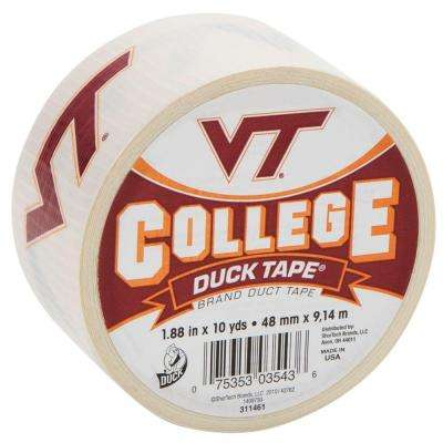 College 1-7/8 in. x 10 yds. Virginia Tech University Duct Tape