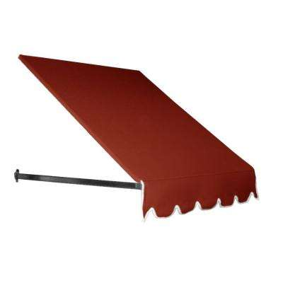 3.375 ft. Dallas Retro Window/Entry Awning (24 in. H x 48 in. D) in Terra Cotta