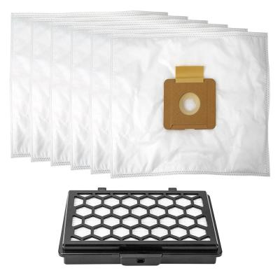Maintenance Kit 6 Replacement Bags + HEPA Filter for Silenzio Canister Vacuum