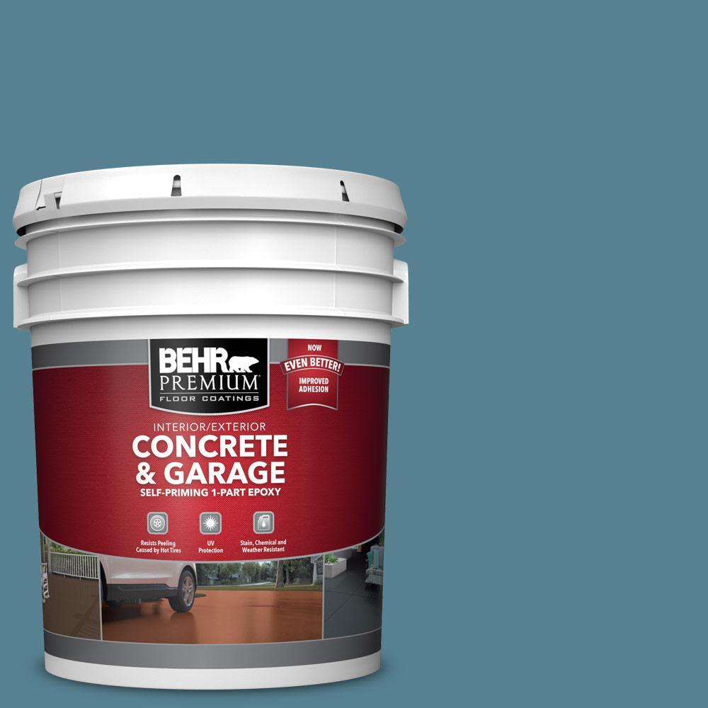 5 gal. #S470-5 Blueprint Self-Priming 1-Part Epoxy Satin Interior/Exterior Concrete and Garage Floor Paint