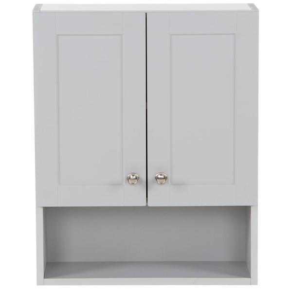 Lancaster 20.5 in. W Over the John Wall Cabinet in Pearl Gray