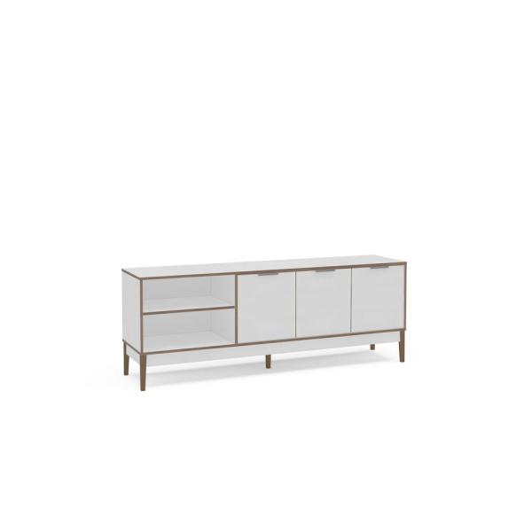 Boston White And Light Brown Tv Stand 1703530001 The Home Depot