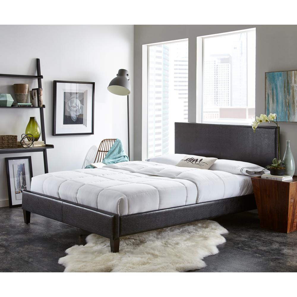 Rest Rite Black Twin Upholstered Bed-HCRRBLPDBEDTW - The Home Depot