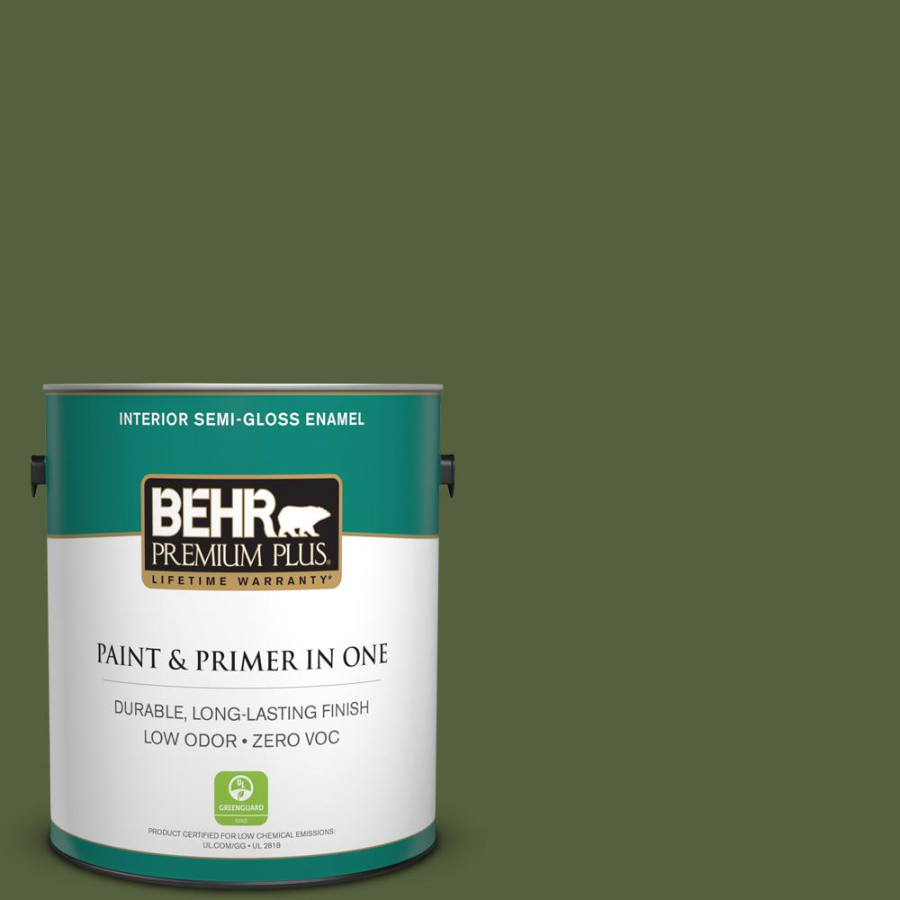 1 gal. #S360-7 Down-to-Earth Semi-Gloss Enamel Zero VOC Interior Paint and