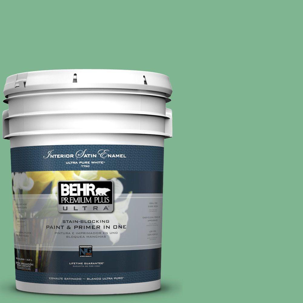 5-gal. #BIC-40 Veiled Chameleon Satin Enamel Interior Paint
