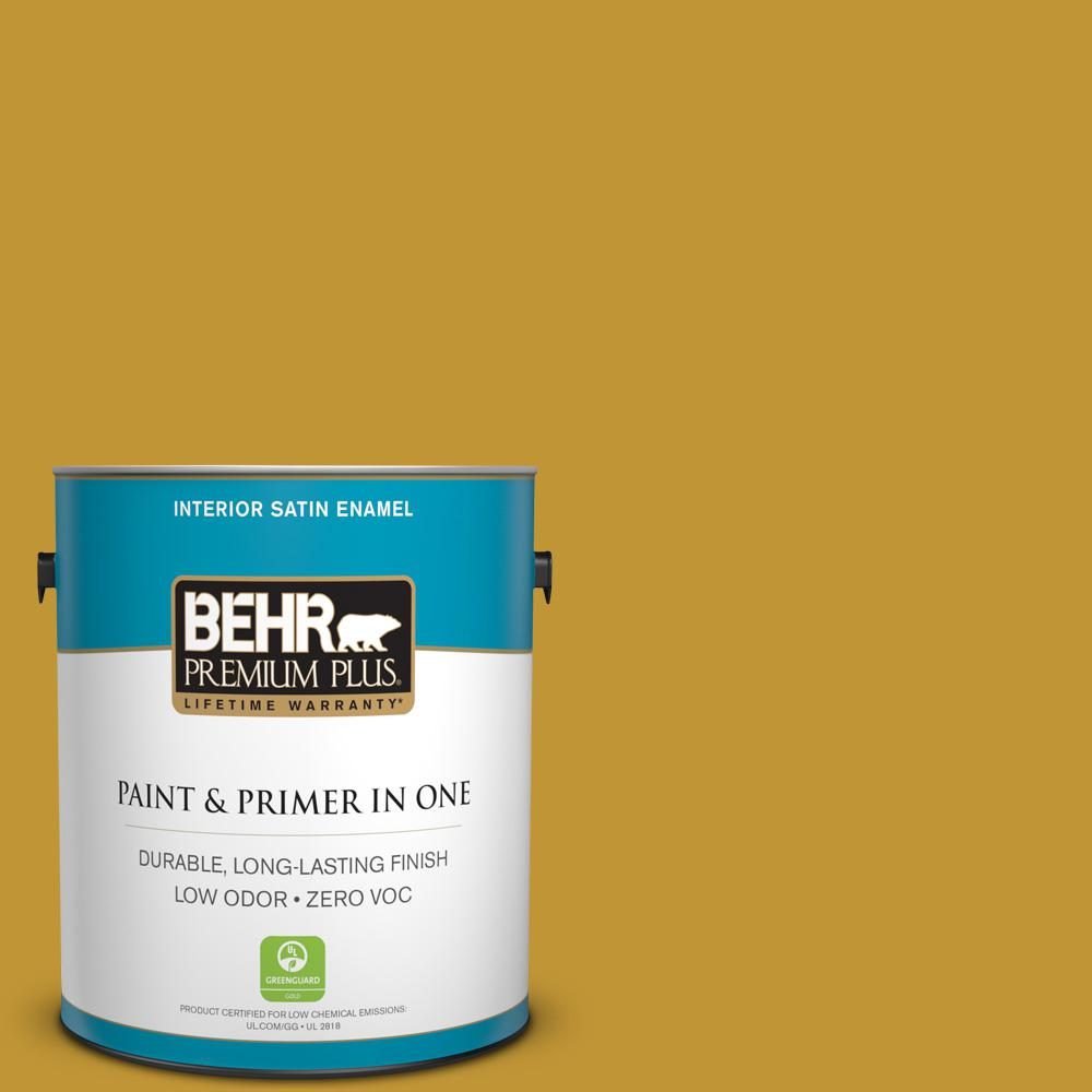 BEHR Premium Plus 1-gal. #S-H-360 Leisure Zero VOC Satin Enamel Interior Paint