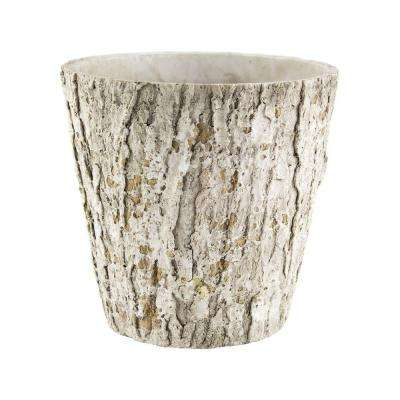 6-1/2 in. Weathered Oak Cement Planter