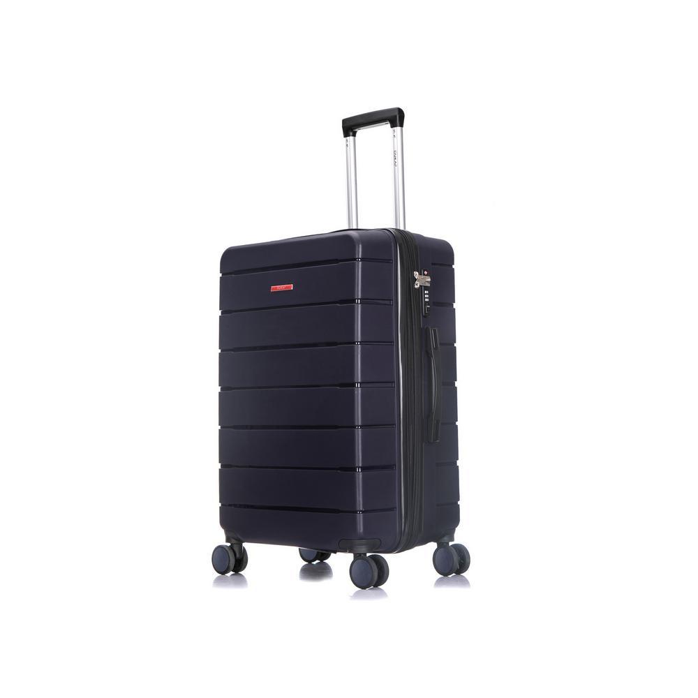 Definity 27 in. Blue Lightweight Hardside Spinner Suitcase