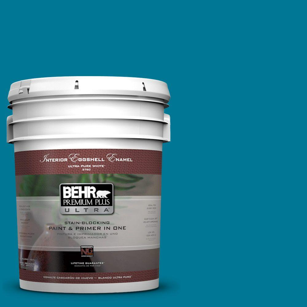 BEHR Premium Plus Ultra 5 gal. #520B-7 Havasu Eggshell Enamel Interior Paint and Primer in One