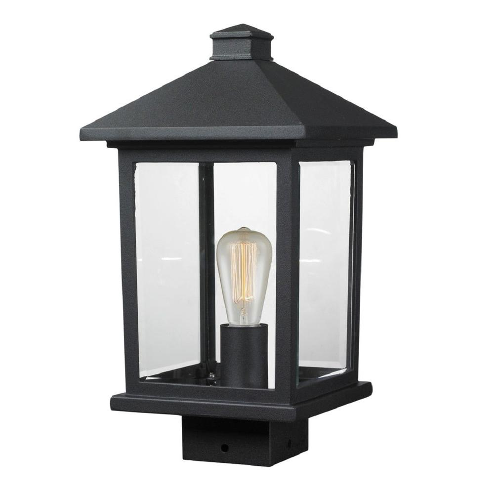 Filament Design Malone 1-Light Outdoor Black Post Mount Light
