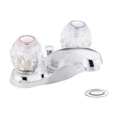 Chateau 4 in. Centerset 2-Handle Bathroom Faucet with Pop-Up Assembly in Chrome