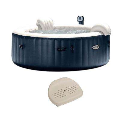 Pure Spa Inflatable 6 Person Outdoor Bubble Hot Tub + Non Slip Seat Insert