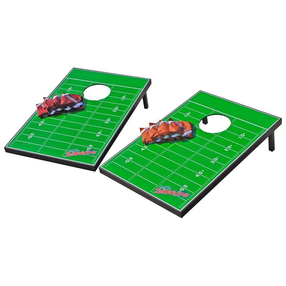 Wild Sports Generic Football Field Tailgate Cornhole Toss