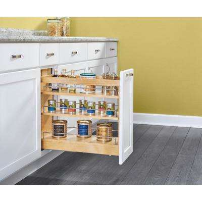 11 in. Pull-Out Wood Base Cabinet Organizer with Soft-Close Slides