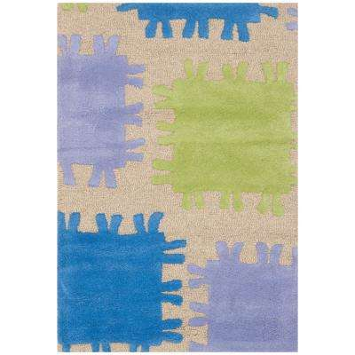 Kids Beige/Multi 3 ft. x 5 ft. Area Rug
