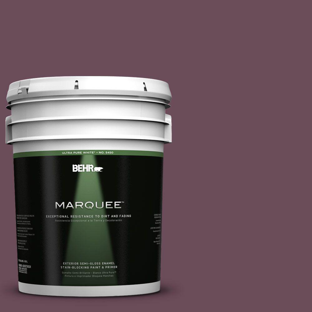 BEHR MARQUEE 5-gal. #PPU1-20 Spiced Plum Semi-Gloss Enamel Exterior Paint