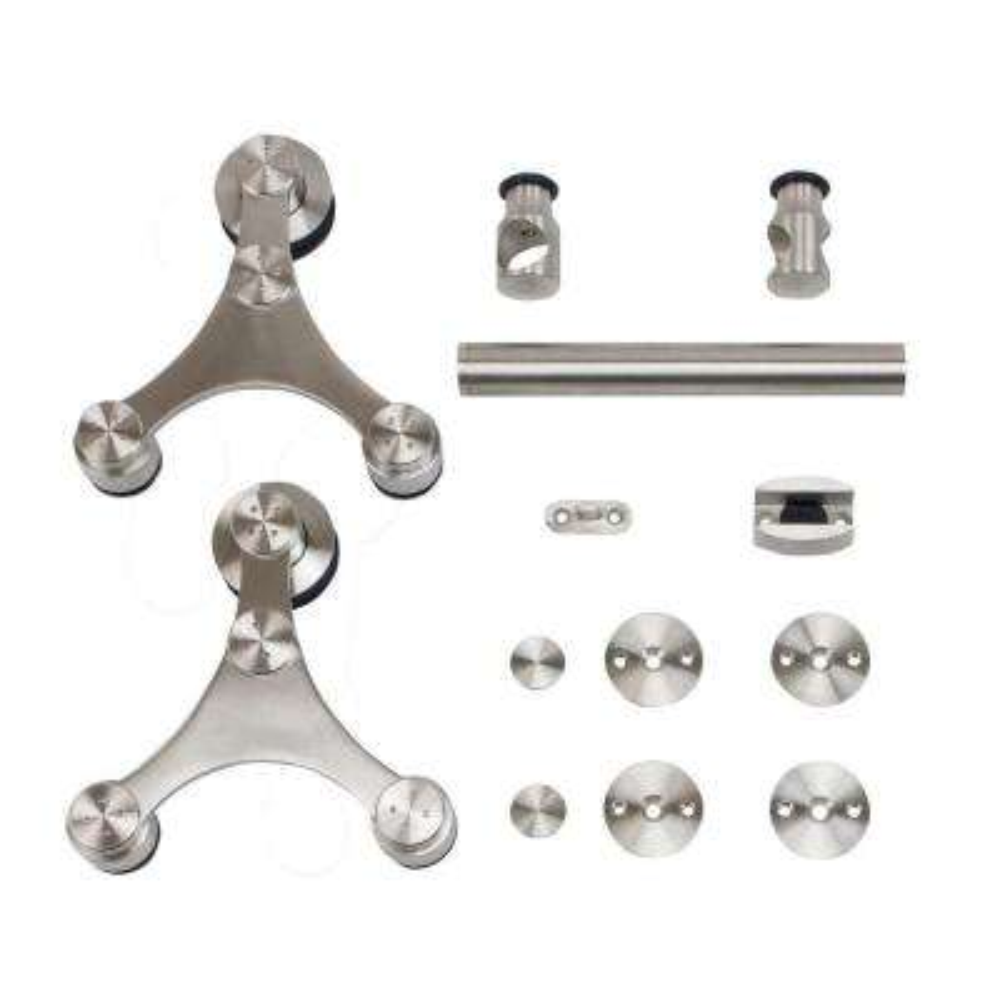 Stainless Steel Triangle Strap Rolling Door Hardware for Wood or Glass Door