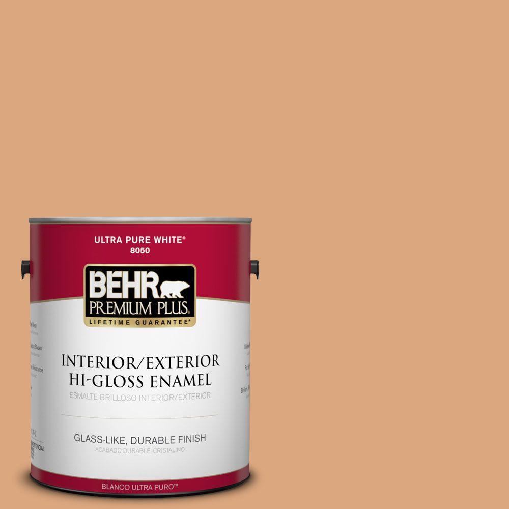 BEHR Premium Plus 1-gal. #PMD-97 Eastern Spice Hi-Gloss Enamel Interior/Exterior Paint