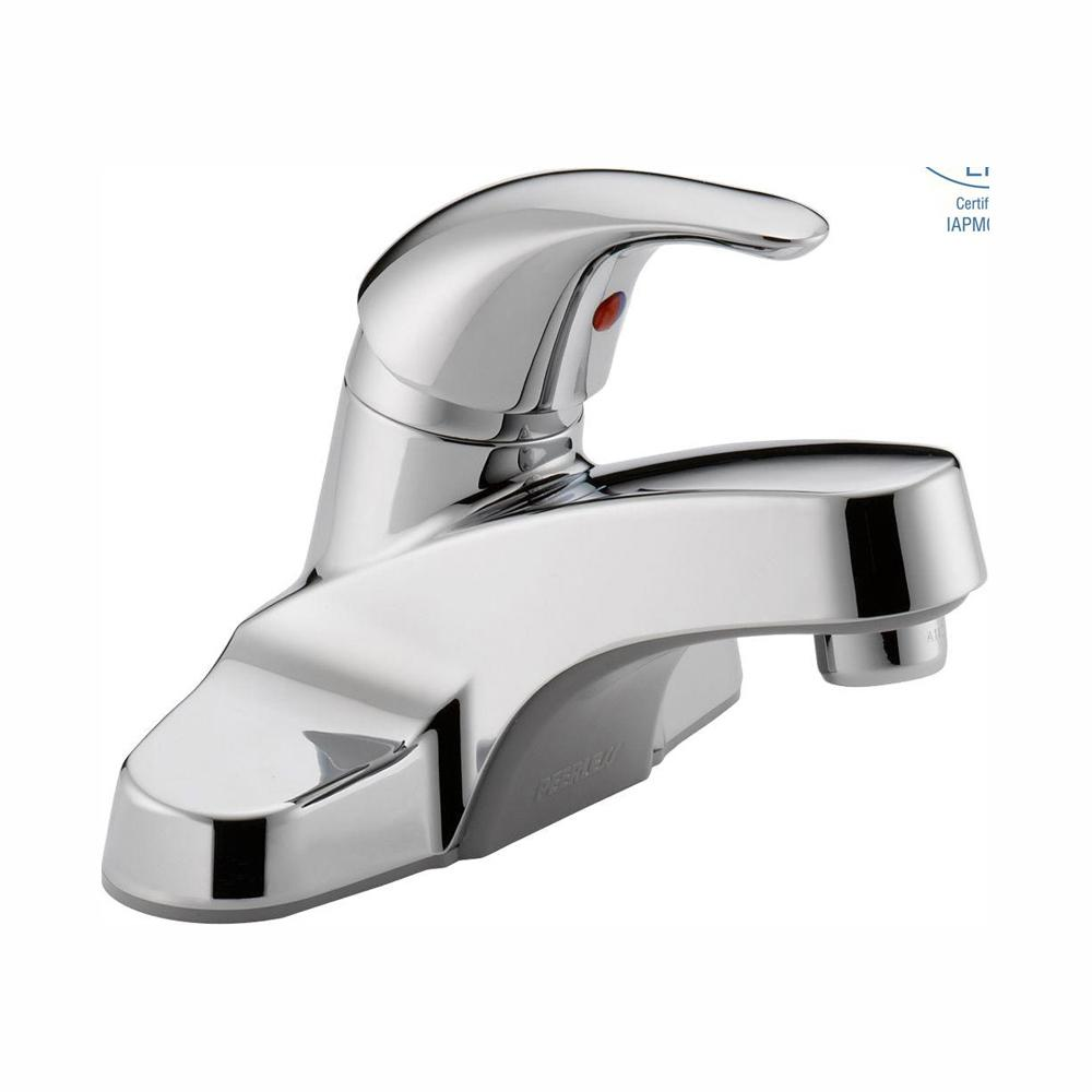 Peerless Core 4 in. Centerset Single-Handle Bathroom Faucet in Chrome