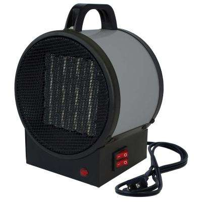 120-Volt 1500-Watt Small Portable Utility Heater in Gray