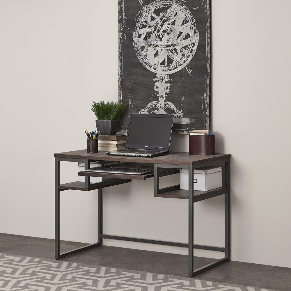 Home Styles Barnside Gray Desk With Shelves