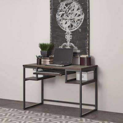 Barnside Gray Desk with Shelves
