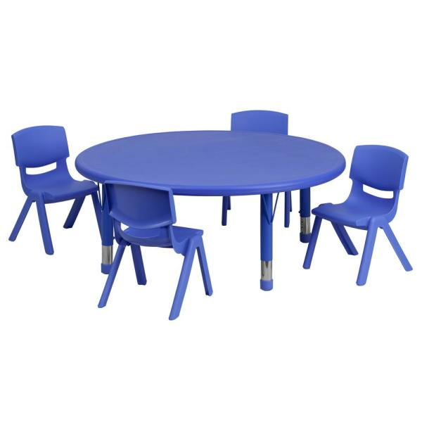 Flash Furniture Blue Kids Table And Chair Set