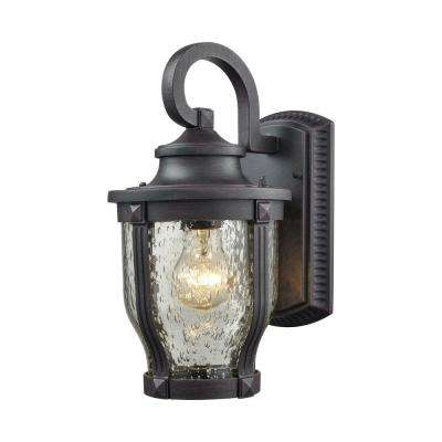 Milford 1-Light Graphite Black Outdoor Wall Sconce