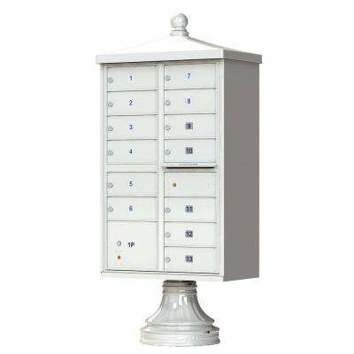 13 Mailboxes 1 Parcel Locker 1 Outgoing Pedestal Mount Cluster Box Unit